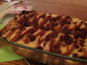Roley's Fruit Cake Bread and Butter Pudding